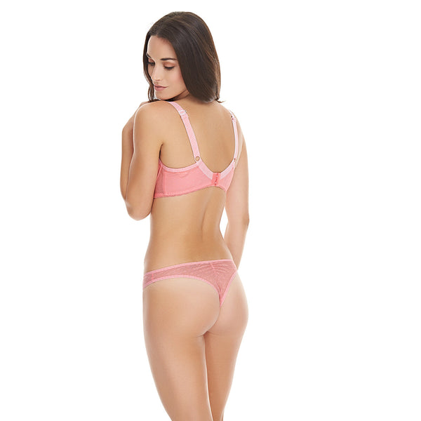Freya-Lingerie-Deco-Vibe-Candy-Pink-Plunge-Bra-AA1704CAY-Brazilian-Brief-AA1707CAY-Back