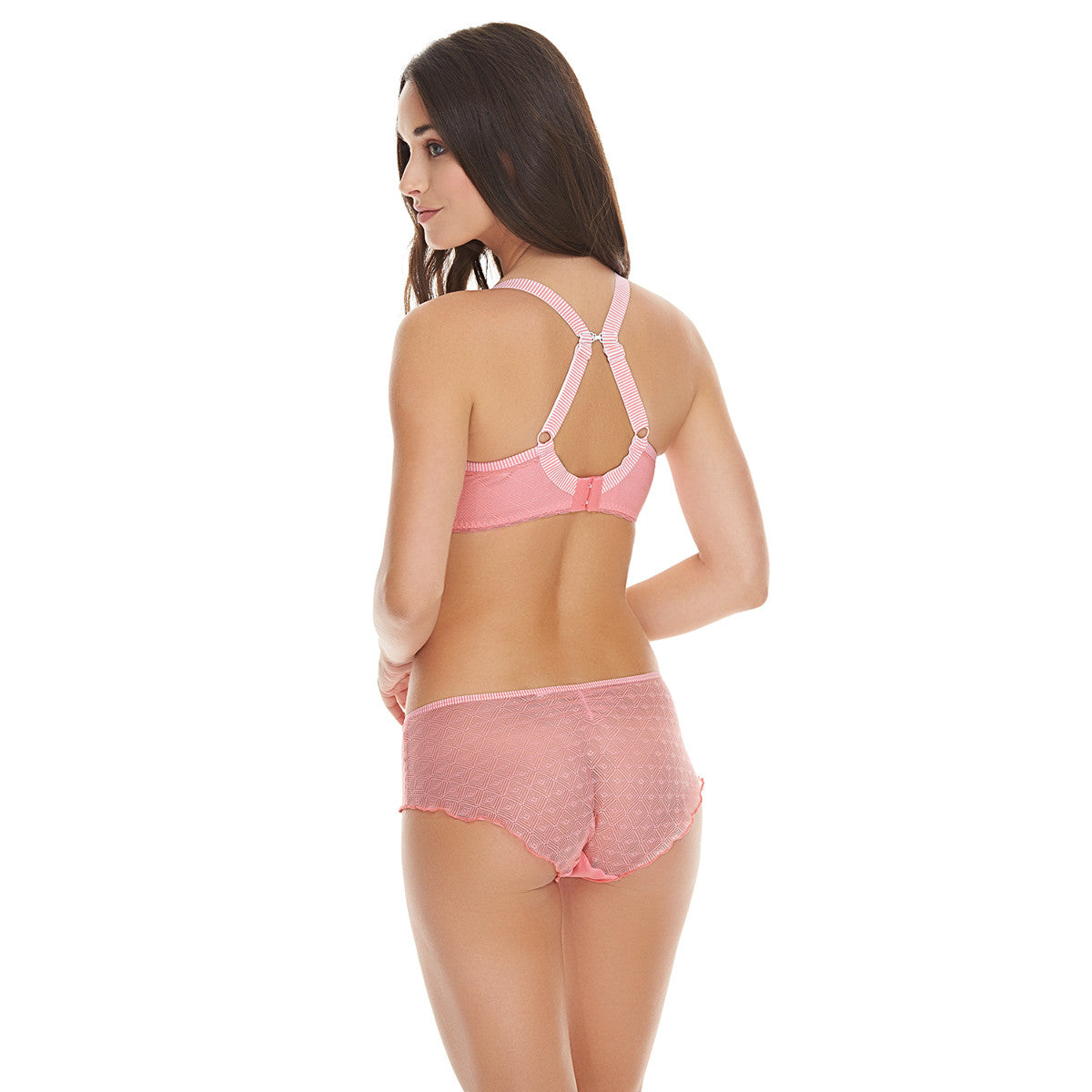 7f15a2b02e Freya Deco Vibe Candy Pink Plunge Bra - 1704CAY - PoinsettiaStyle.co.uk