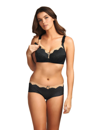 Freya-Lingerie-Dotty-Black-Soft-Cup-Nursing-Bra-AA2034-Short-AA2044
