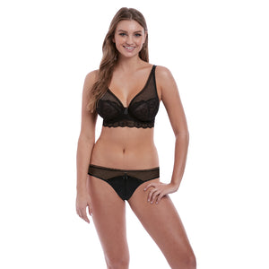 Freya-Lingerie-Expression-Black-High-Apex-Bra-AA5494BLK-Brazilian-Brief-AA5497BLK-Front