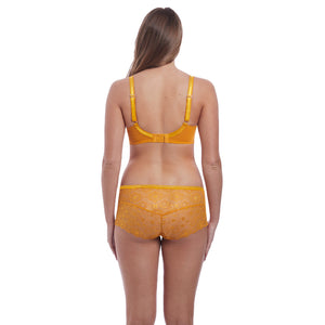 Freya-Lingerie-Expression-California-Gold-Yellow-Plunge-Bra-AA5491CGD-Short-AA5496CGD-Back