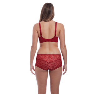 Freya-Lingerie-Expression-Ruby-Red-Moulded-Plunge-Bra-AA5490RUY-Short-AA5496RUY-Back