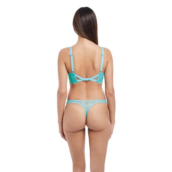 Freya-Lingerie-Fancies-Aquamarine-Blue-Plunge-Bra-AA1011AQE-Thong-AA1008AQE-Back
