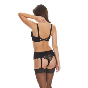Freya-Lingerie-Fancies-Black-Longline-Bra-AA1014BLK-Brazilian-Brief-AA1017BLK-Suspender-Belt-AA1019BLK-Back
