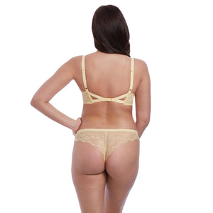 Freya-Lingerie-Fancies-Buttermilk-Yellow-Plunge-Bra-AA1011BUK-Thong-AA1017BUK-Back