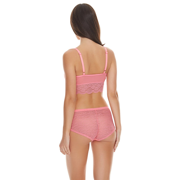 Freya-Lingerie-Fancies-Candy-Pink-Bralette-AA1010CAY-Hipster-Short-AA1015CAY-Back