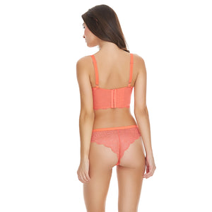 Freya-Lingerie-Fancies-Hot-Coral-Longline-Bra-AA1014HOL-Brazilian-Brief-AA1017HOL-Back