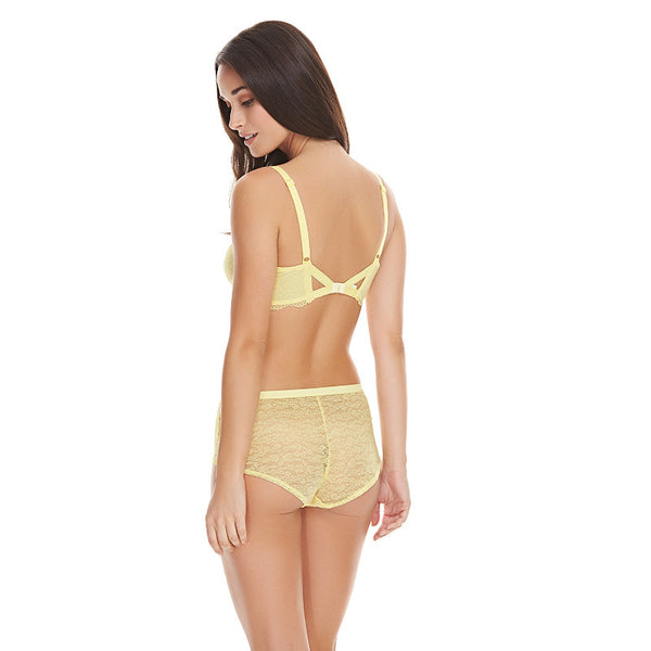 Freya-Lingerie-Fancies-Lemon-Yellow-Sorbet-Plunge-Bra-AA1011LEE-Short-AA1015LEE-Back