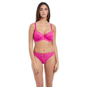 Freya-Lingerie-Fancies-Orchid-Pink-Half-Cup-Bra-AA1013ORD-Thong-AA1008ORD-Front