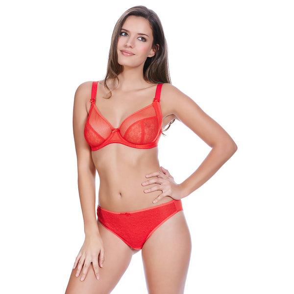 Freya-Lingerie-Hero-Chilli-Red-Side-Support-Plunge-Bra-AA1841CRD-Brief-AA1845CRD-Front