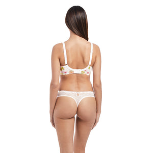 Freya-Lingerie-Rose-Tapestry-White-Side-Support-K-Cup-Bra-AA3652WHE-Thong-AA3657WHE-Back