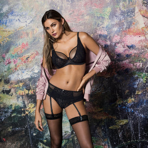 Freya-Lingerie-Soiree-Lace-Black-High-Apex-Bra-AA5011BLK-Thong-AA5017BLK-Suspender-AA5019BLK-Lifestyle