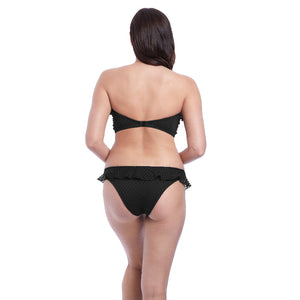 Freya-Swim-Bohemia-Black-Bandeau-Bikini-Top-AS2971BLK-Italini-Brief-AS2975BLK-Back