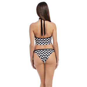 Freya-Swim-Making-Waves-Black-White-Croptini-Bikini-Top-AS2949BLK-Italian-Tie-Side-Brief-AS2951BLK-Back
