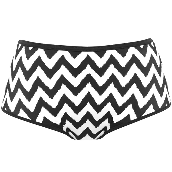 Freya-Swim-Making-Waves-Black-White-High-Waist-Brief-AS2952BLK-Front