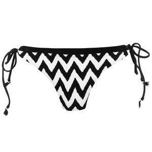 Freya-Swim-Making-Waves-Black-White-Italian-Tie-Side-Bikini-Brief-AS2951BLK-Front