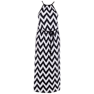 Freya-Swim-Making-Waves-Black-White-Maxi-Dress-AS2946BLK