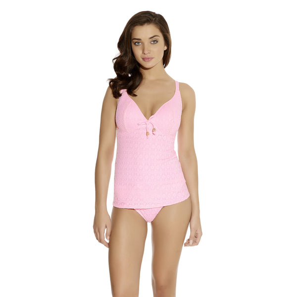 Freya-Swim-Spirit-Pink-Sorbet-Plunge-Tankini-AS3906PIT-Classic-Bikini-Brief-AS3904PIT-Front