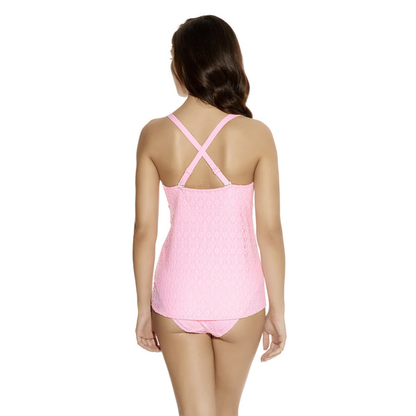 Freya-Swim-Spirit-Pink-Sorbet-Plunge-Tankini-Cross-AS3906PIT-Classic-Bikini-Brief-AS3904PIT-Back