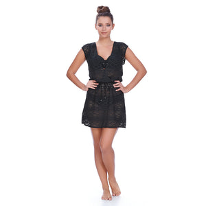 Freya-Swim-Sundance-Black-Beach-Cover-Up-Dress-AS3978BLK-Front