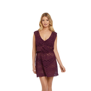 Freya-Swim-Sundance-Black-Cherry-Beach-Cover-Up-Dress-AS3978BCH-Front
