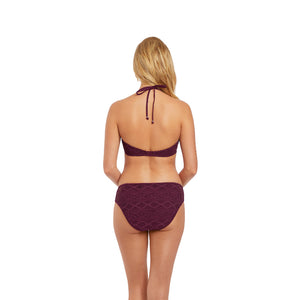 Freya-Swim-Sundance-Black-Cherry-Halter-Bikini-Top-AS3971BCH-Hipster-Brief-AS3976BCH-Back