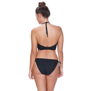 Freya-Swim-Sundance-Black-High-Neck-Crop-Swim-Top-AS3973BLK-Rio-Tie-Side-Brief-AS3975BLK-Back
