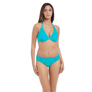 Freya-Swim-Sundance-Deep-Ocean-Blue-Halter-Bikini-Top-AS3971DON-Hipster-Brief-AS3976DON-Front