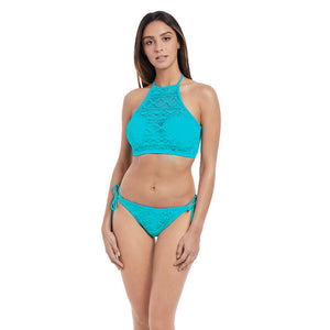 Freya-Swim-Sundance-Deep-Ocean-Blue-High-Neck-Crop-Swim-Top-AS3973DON-Rio-Tie-Side-Brief-AS3975DON-Front