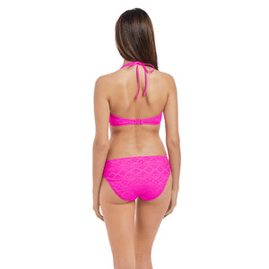 Freya-Swim-Sundance-Hot-Pink-Halter-Bikini-Top-AS3971HOK-Hipster-Brief-AS3976HOK-Back