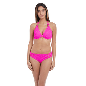 Freya-Swim-Sundance-Hot-Pink-Halter-Bikini-Top-AS3971HOK-Hipster-Brief-AS3976HOK-Front
