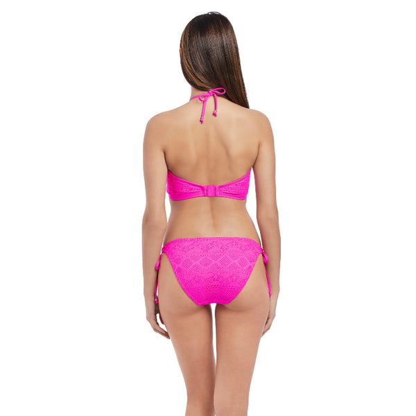 Freya-Swim-Sundance-Hot-Pink-High-Neck-Crop-Swim-Top-AS3973HOK-Rio-Tie-Side-Brief-AS3975HOK-Back
