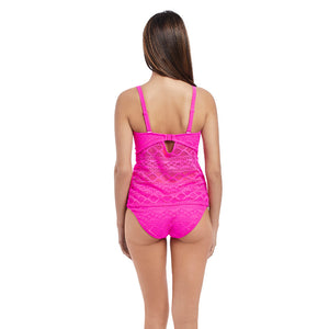 Freya-Swim-Sundance-Hot-Pink-Tankini-Swim-Top-AS3972HOK-Hipster-Brief-AS3976HOK-Back