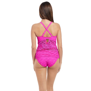 Freya-Swim-Sundance-Hot-Pink-Tankini-Swim-Top-Racerback-AS3972HOK-Hipster-Brief-AS3976HOK-Back