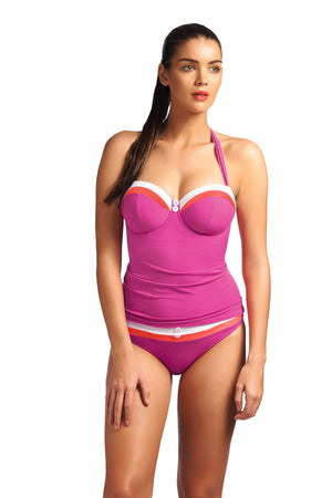 Freya-Swimwear-Revival-Sorbet-Pink-Bandeau-Tankini-Top-Straps-AS3221SOB-Hipster-Brief-AS3223SOB