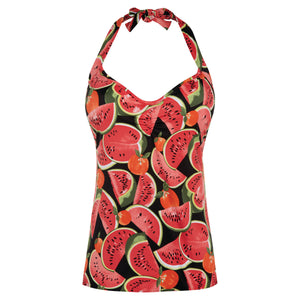 Freya-Swimwear-Watermelon-Coral-Halter-Tankini-Top-AS2309COL