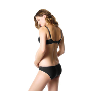 Hotmilk-Lingerie-Show-Off-Jet-Black-Maternity-Nursing-Bra-SOJ-Brief-Panty-SOJBK-Back