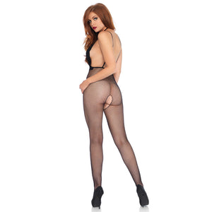 Crotchless Harness Bodystocking Black - Leg Avenue