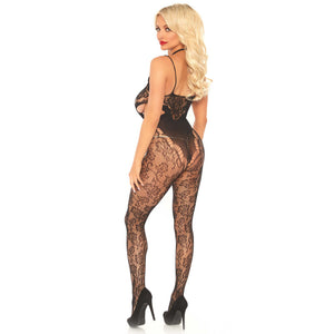 Leg-Avenue-Black-Cut-Out-Side-Floral-Lace-Bodystocking-89235-Back