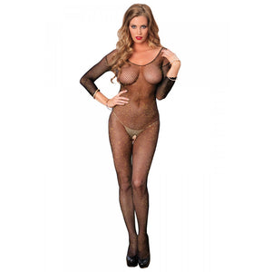 Leg-Avenue-Black-Gold-Lurex-Long-Sleeve-Bodystocking-89141