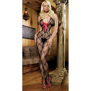 Leg-Avenue-Black-Red-Bow-Lace-Up-Bodystocking-89027