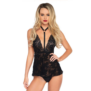 Leg-Avenue-Lace-Harness-Babydoll-Black-81549-Front