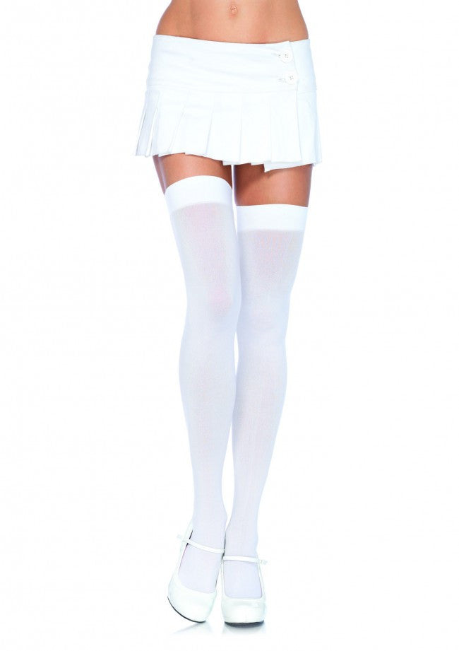 bd5a13f3dd5 Leg-Avenue-Opaque-Thigh-Highs-White-6672