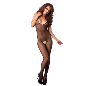 Leg-Avenue-Seamless-Fishnet-Halter-Black-Bodystocking-89031-Front