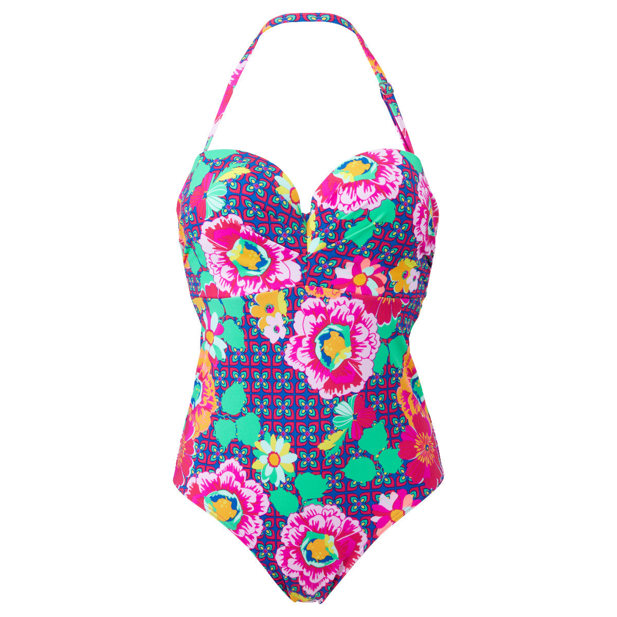 156c172932 Lepel Swim Sun Kiss Floral Print Bandeau One Piece Swimsuit ...