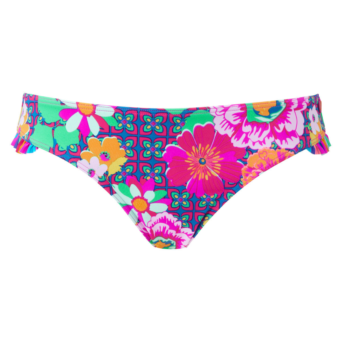 9d83e59ce9 Lepel Swim Sun Kiss Floral Print Low Rise Frill Bikini Brief Pant ...