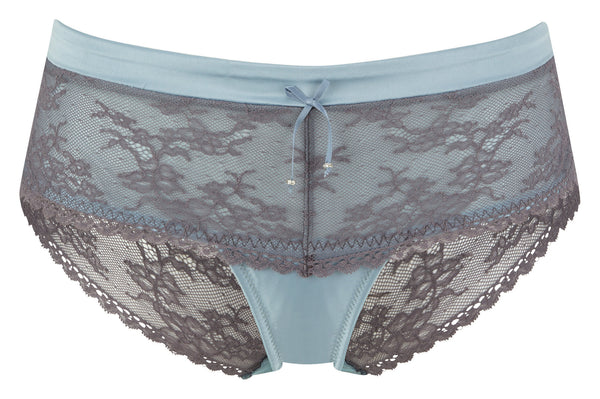 Masquerade-Lingerie-Antoinette-Brief-Sky-Blue-Charcoal-7152-Front