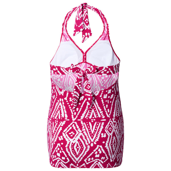 Noppies-Mallorca-Pink-White-Maternity-Pregnancy-Tankini-Swimsuit-63925-Back
