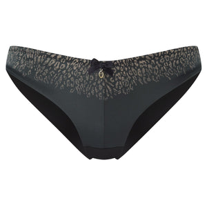 Panache-Black-Odette-Animal-Print-Brief-7852-Front