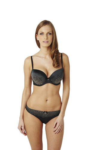 Panache-Black-Odette-Animal-Print-Sweetheart-Bra-7851-Brief-7852-Front
